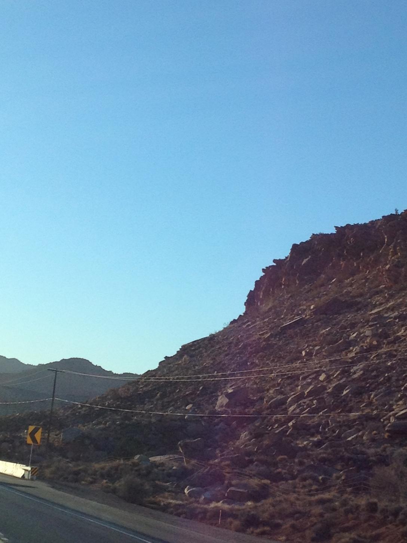 Interstate 15 descending into Arizona.